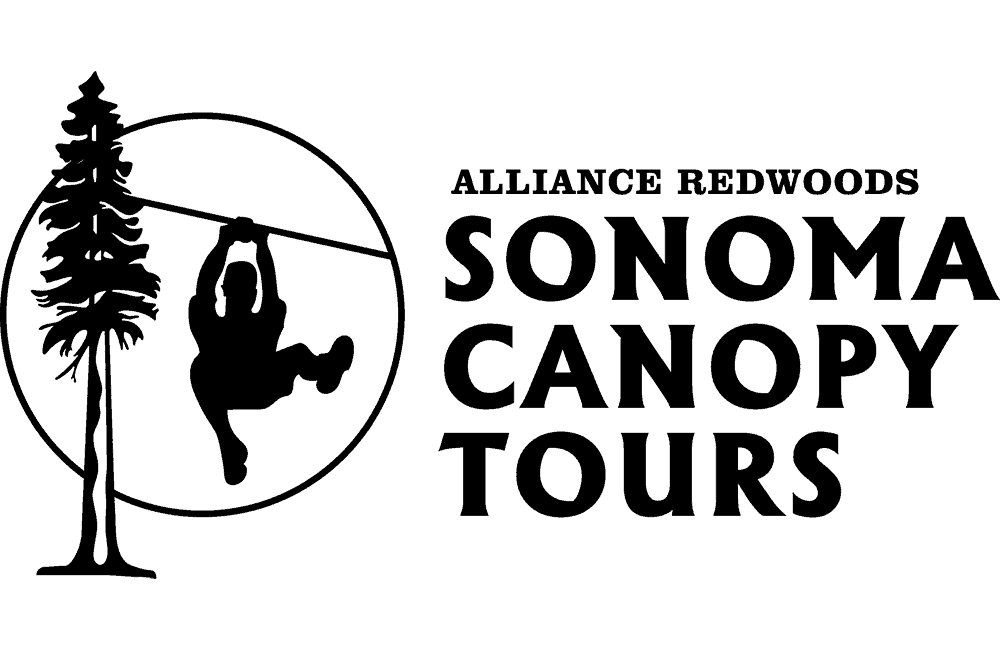 Alliance Redwoods Sonoma Canopy Tours black logo